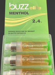 Buzz Elite Menthol (5) Refill Cartridges 2.4% Nicotine by Volume