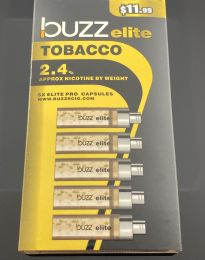 Buzz Elite Tobacco (5) Refill Cartridges 2.4% Nicotine by Volume