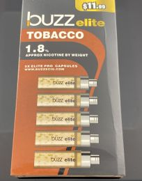 Buzz Elite Tobacco (5) Refill Cartridges 1.8% Nicotine by Volume