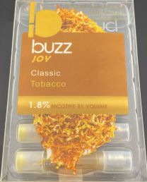 Buzz Joy Classic Tobacco (5) Refill Cartridges 1.8% Nicotine by Volume