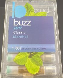 Buzz Joy Classic Menthol (5) Refill Cartridges 1.8% Nicotine by Volume