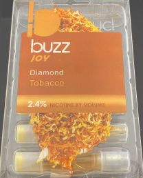 Buzz Joy Diamond Tobacco (5) Refill Cartridges 2.4% Nicotine by Volume