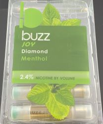 Buzz Joy Diamond Menthol (5) Refill Cartridges 2.4% Nicotine by Volume