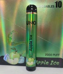 Uno Disposable 5% Salt Nic - 2000 Puffs - Apple Ice