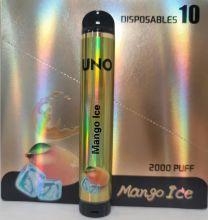 Uno Disposable 5% Salt Nic - 2000 Puffs - Mango Ice