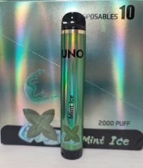 Uno Disposable 5% Salt Nic - 2000 Puffs - Mint Ice